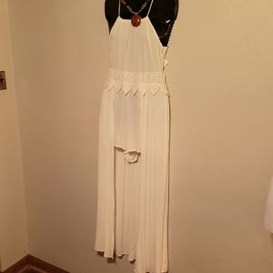 Shemmia Ray white romper high/low. Size S